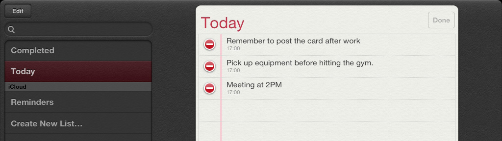 3 Delete multiple reminders