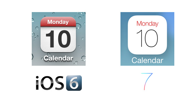 Calendar iOS 7 Icon Comparison