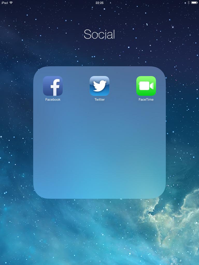 Folders iOS 7 iPad
