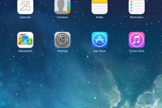 Home iPad iOS 7