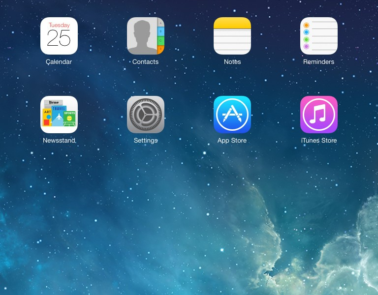 Home iPad iOS 7