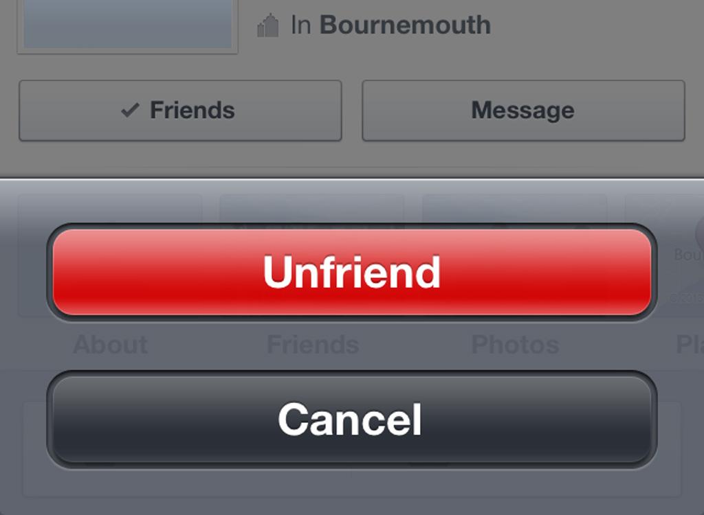 7. Unfriend