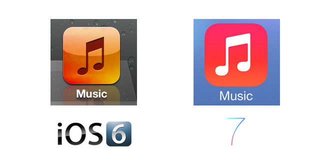 Music iOS 7 Icon Comparison