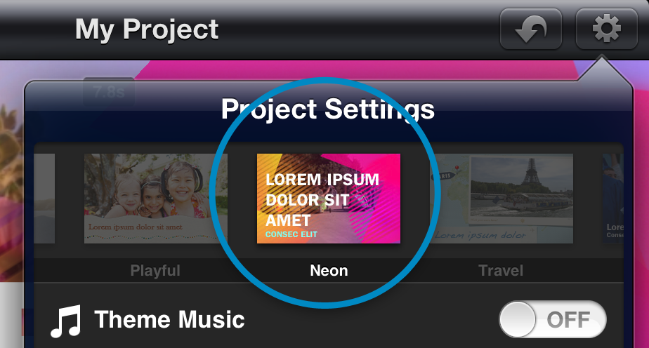 How to add a theme in imovie for ipad and iphone 4 neon maxwellsz