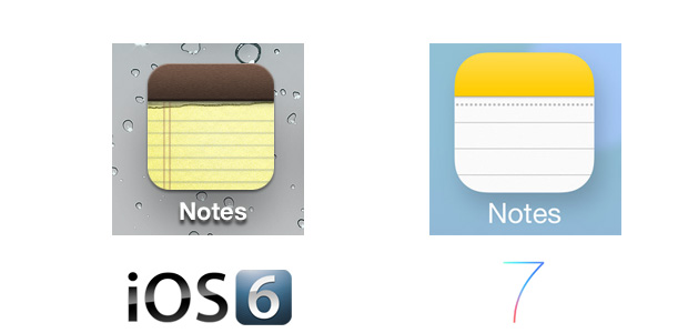 Notes iOS 7 Icon Comparison