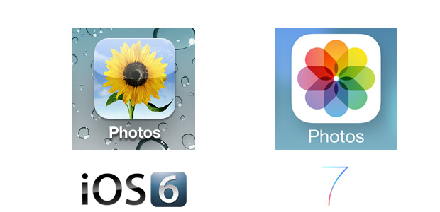 Photos iOS 7 Icon Comparison