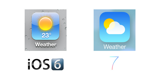 Weather iOS 7 Icon Comparison