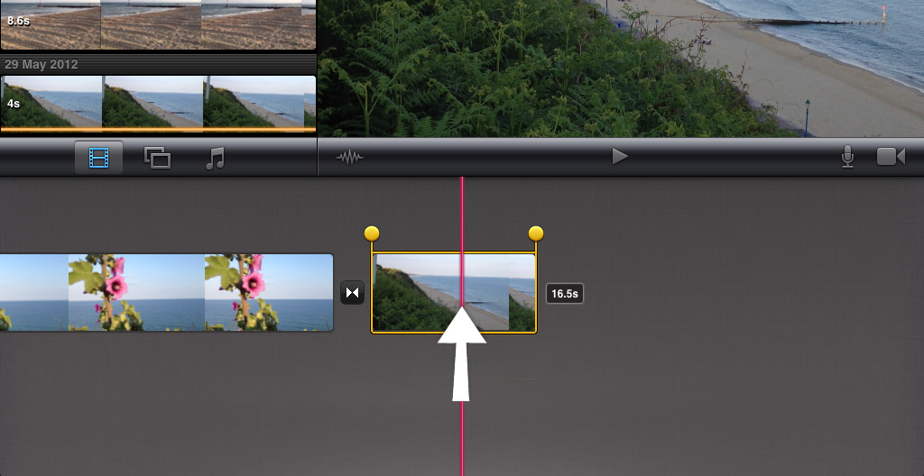 how to add text to imovie on iphone