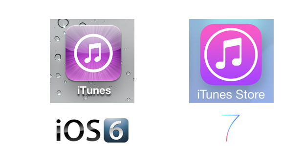 iTunes iOS 7 Icon Comparison