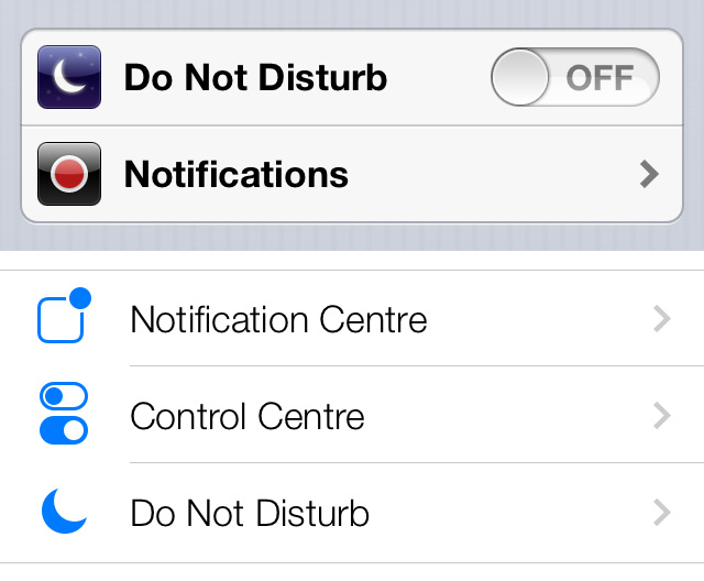 ios 7 settings comparison