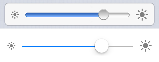 ios 7 slider comparison