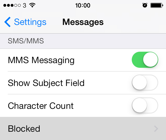 Block SMS messages on iPhone