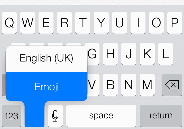 Enable the Emojis keyboard