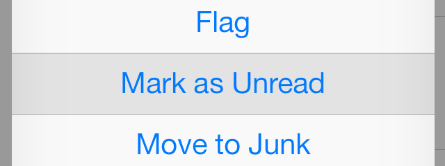 Mark as unread iOS 7
