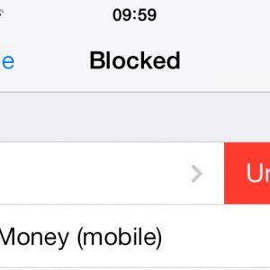 Unblock a contact on iPhone