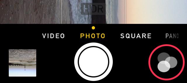 iOS 7 Camera App Buttons