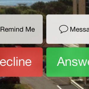 iOS 7 beta 4 Phone Call buttons