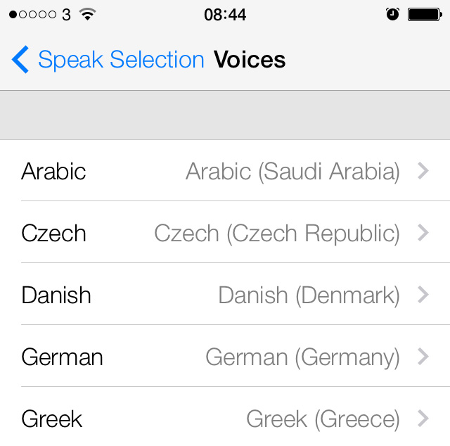 iPhone Voices