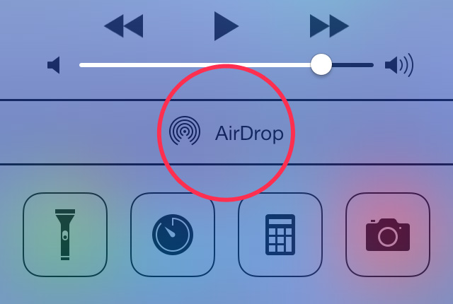 turn on airdrop ios 7