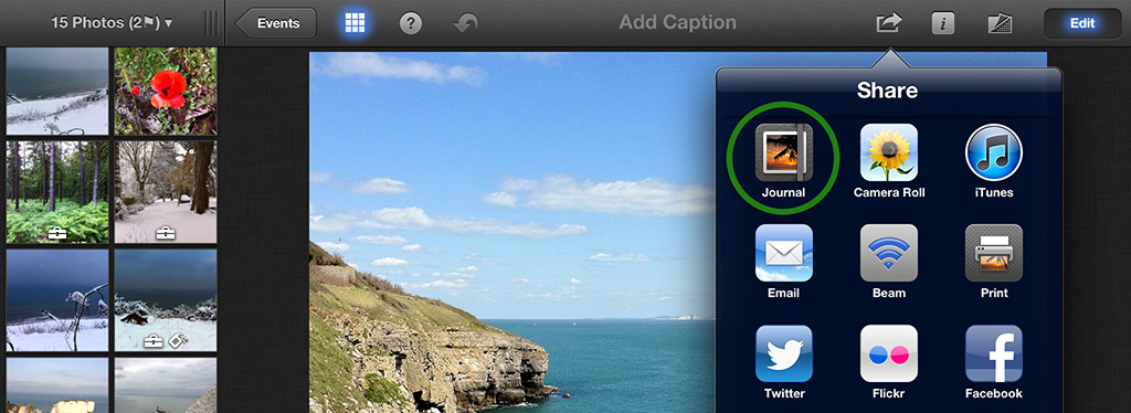 Create a Journal in iPhoto