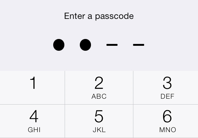 Entering A Passcode IOS 7 IPhone
