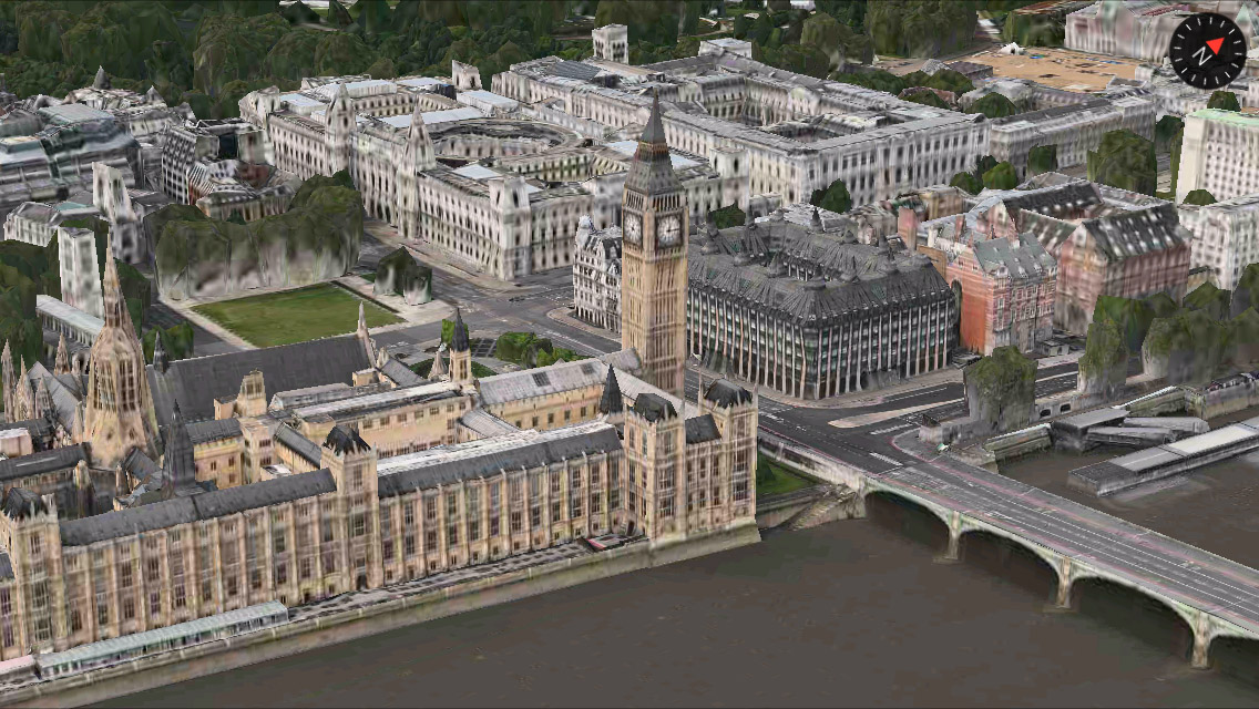London 3D Maps app iPhone