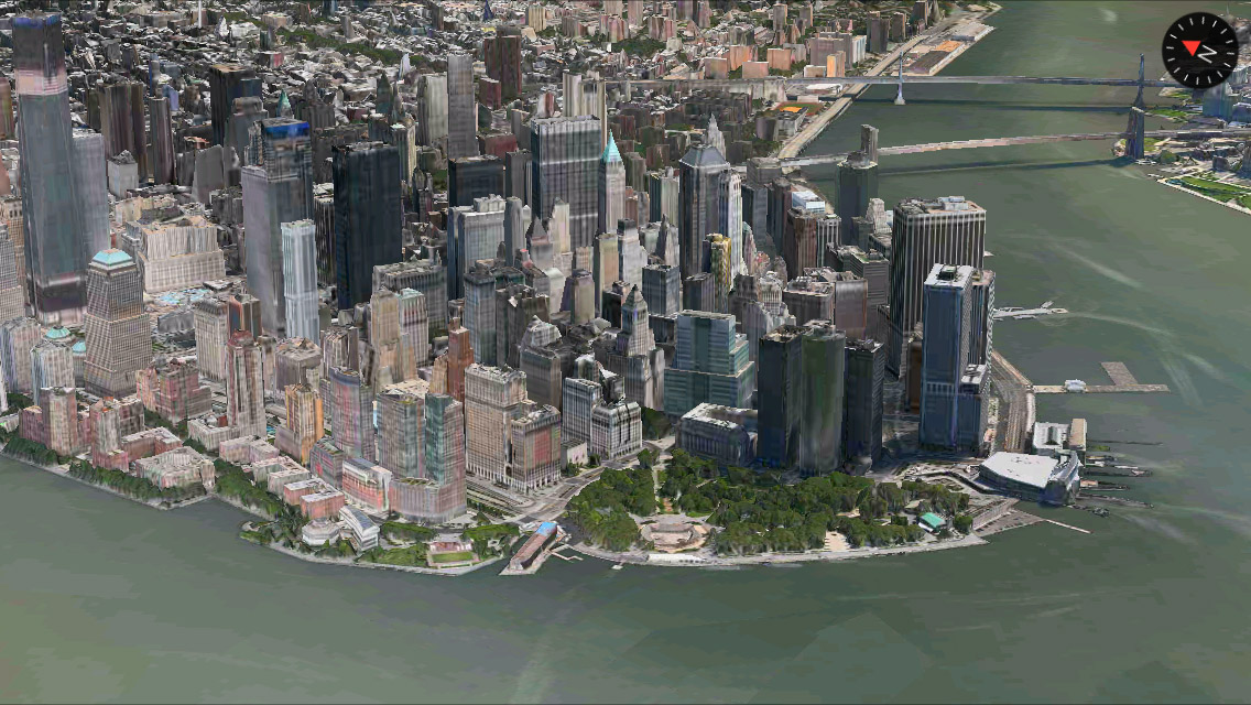 New York 3D Maps app iPhone