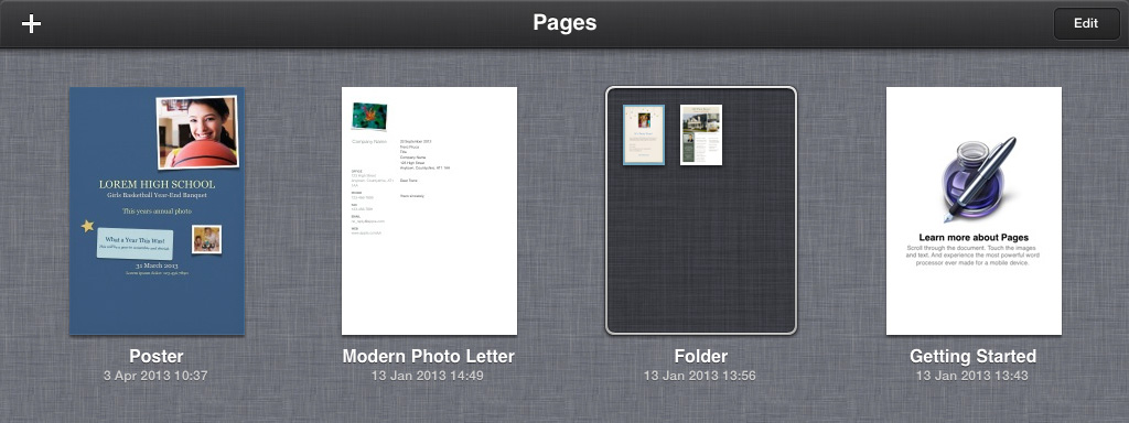 Pages Documents iCloud iOS 7