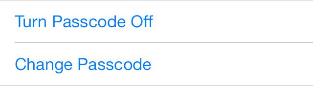 Passcode on iOS 7