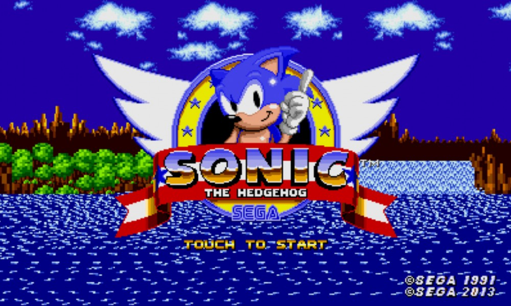 Sonic iPhone Splash Screen