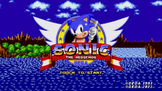 Sonic iPhone Splash Screen