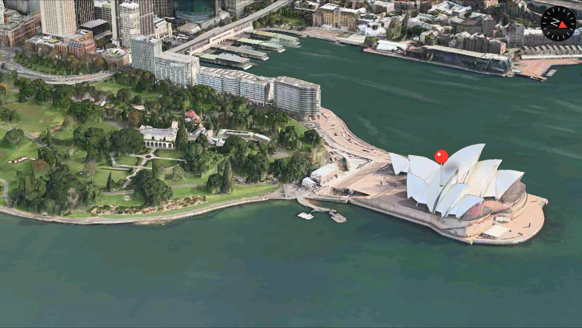 Sydney 3D Maps app iPhone