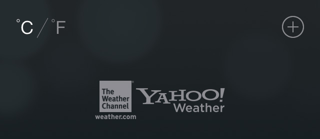 Yahoo in Weather app iOS 7