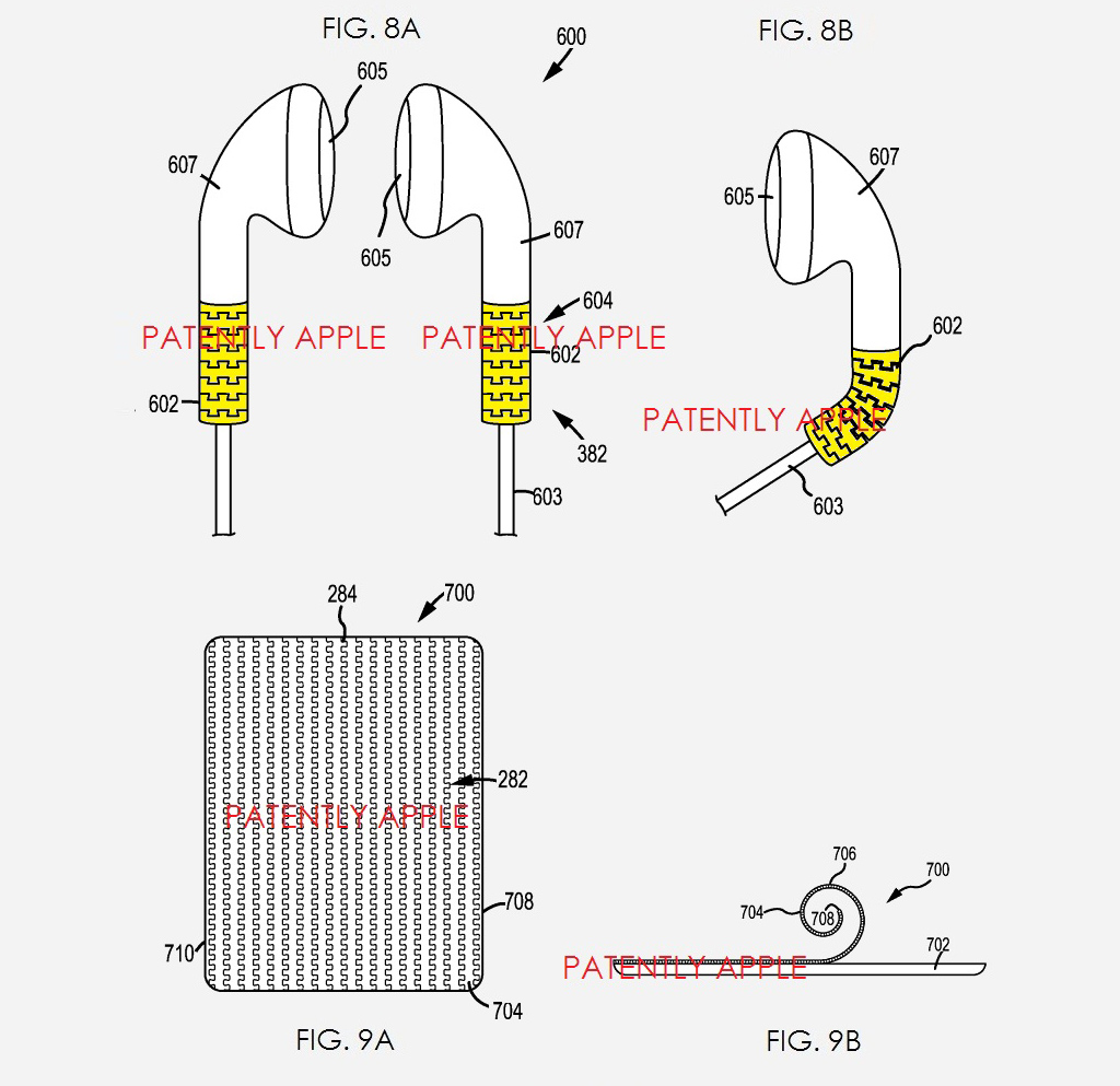 headphones flex patent