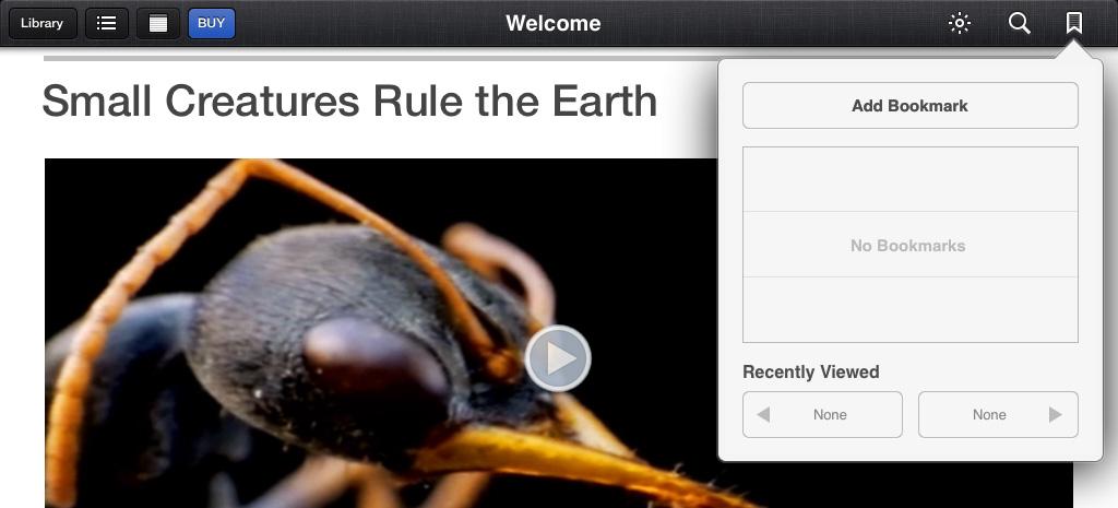 iBooks Bookmark iCloud iOS 7