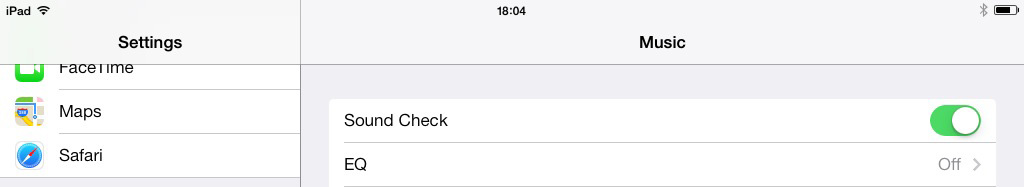 iOS 7 iPad Sound Check