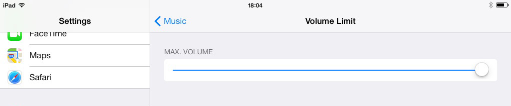 iOS 7 iPad Volume Limit