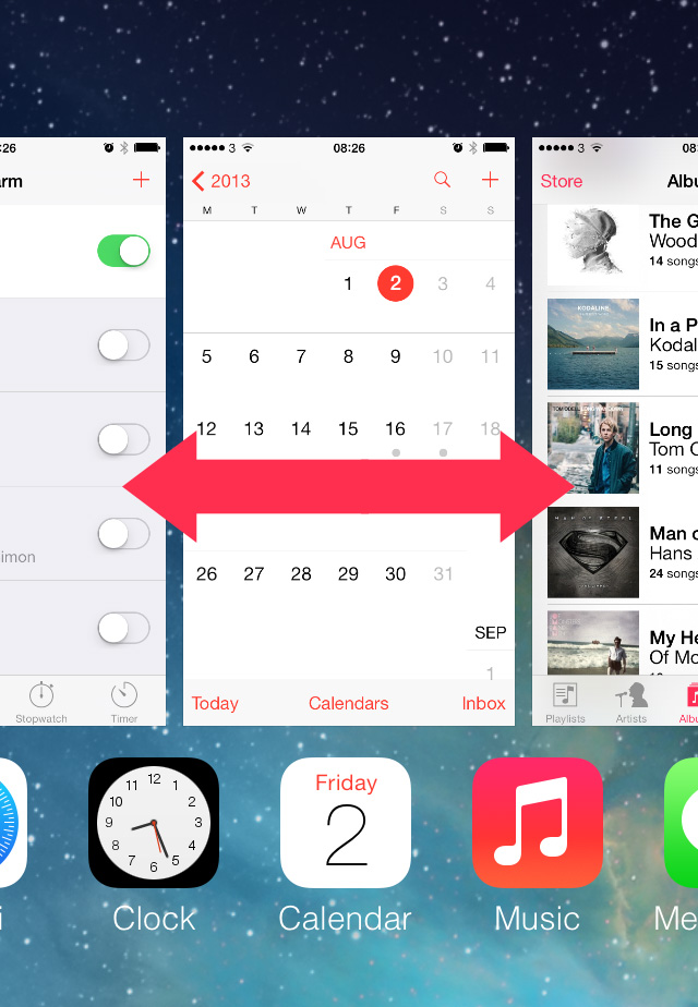 iOS 7 scroll multitasking