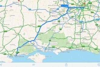 iPad Maps iOS 7 App Navigation Route