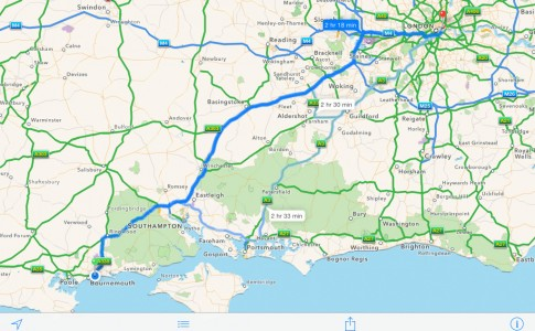 iPad Maps iOS 7 App Navigation Route