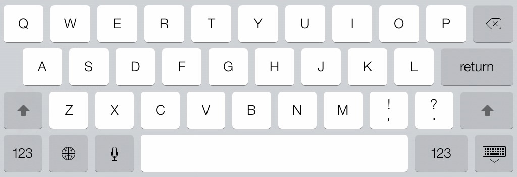 iPad mini keyboard iOS 7