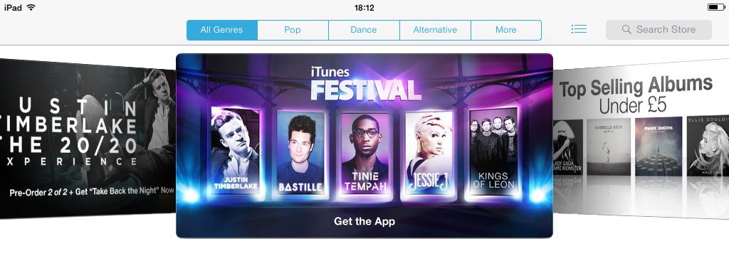 iTunes iCloud iOS 7
