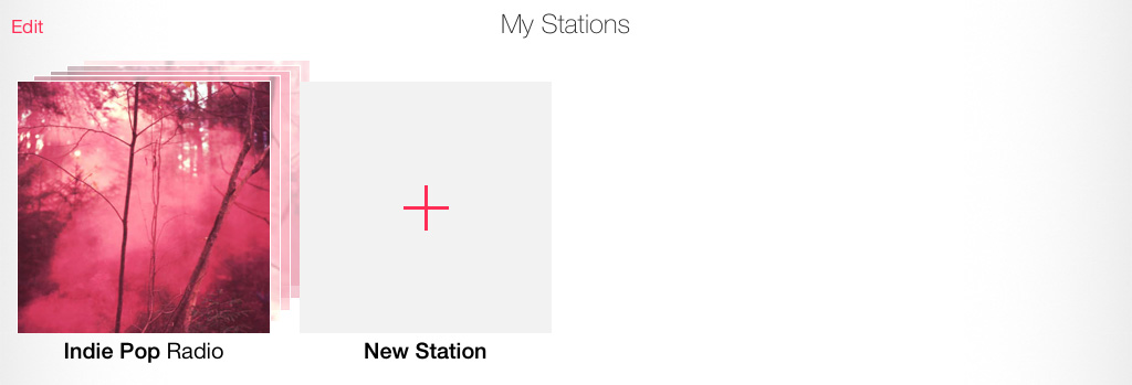 Create Station iTunes Radio