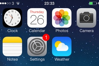 Settings Update app iOS 7