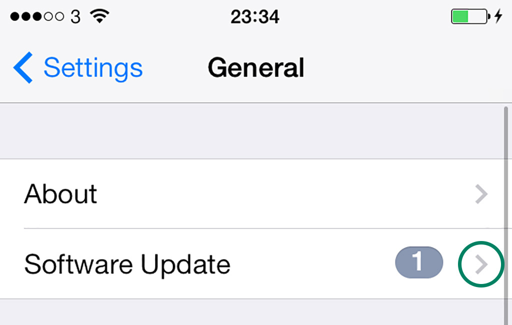 Software Update Settings iOS 7