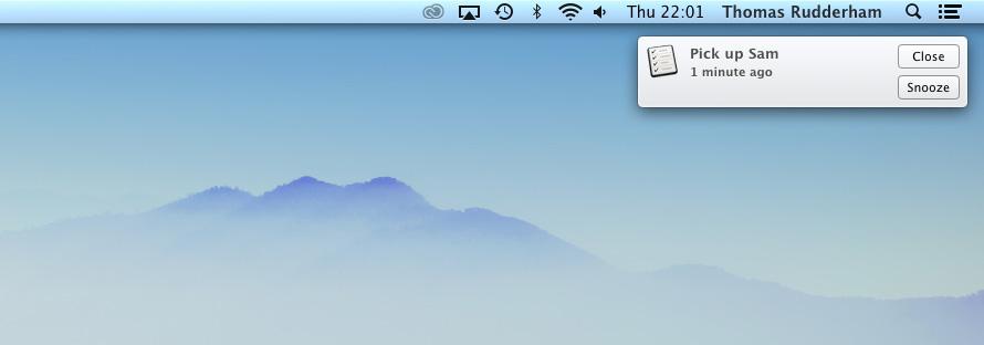 iCloud Reminders Mac