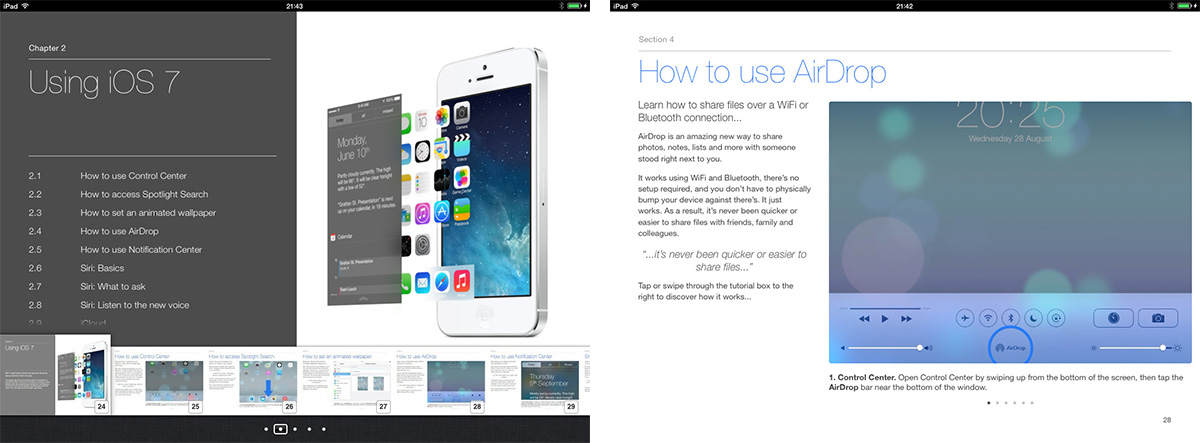 iOS 7 book screenshots 2