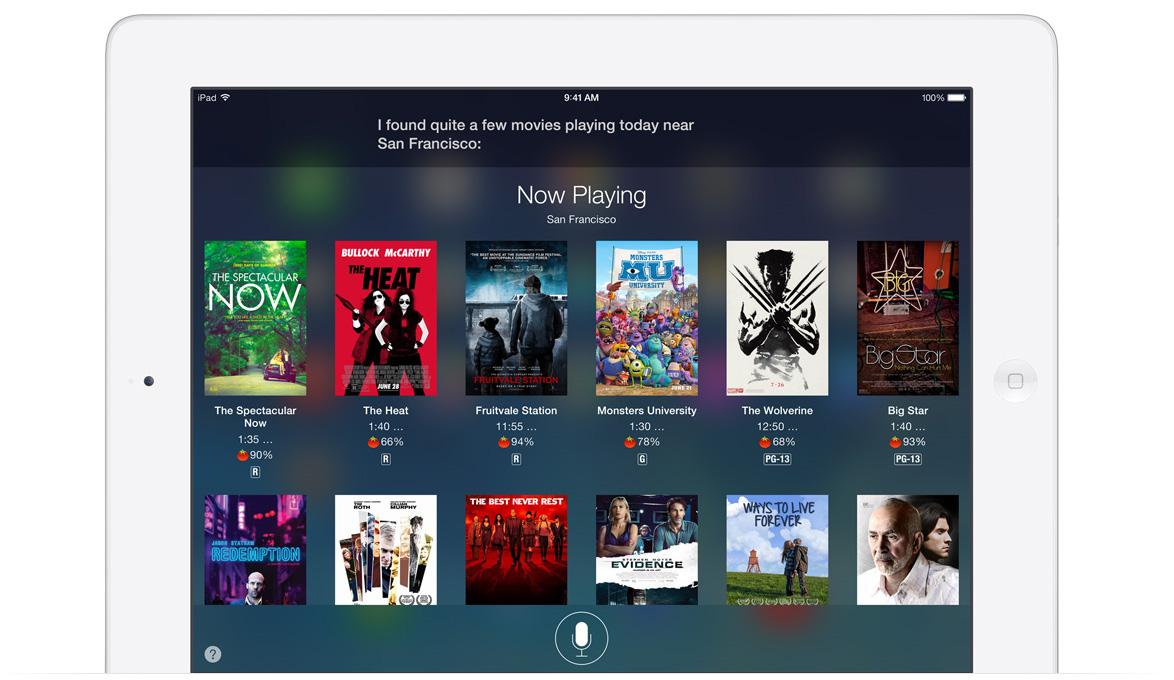 iPad Siri iOS 7