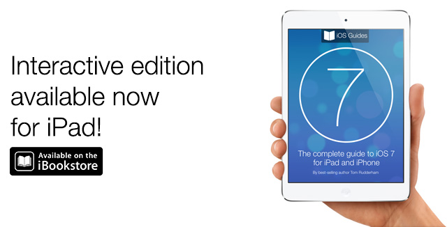 iPad iOS 7 book ad