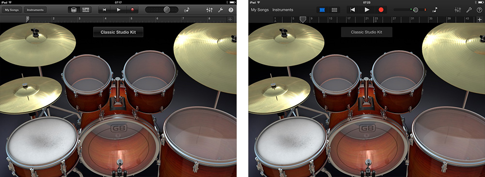 GarageBand iOS 7 Comparison 4 thumb